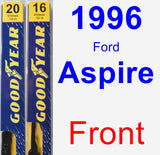 Front Wiper Blade Pack for 1996 Ford Aspire - Premium