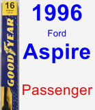 Passenger Wiper Blade for 1996 Ford Aspire - Premium
