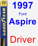 Driver Wiper Blade for 1997 Ford Aspire - Premium