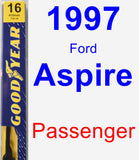 Passenger Wiper Blade for 1997 Ford Aspire - Premium
