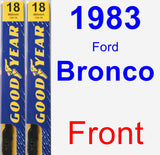 Front Wiper Blade Pack for 1983 Ford Bronco - Premium