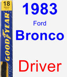 Driver Wiper Blade for 1983 Ford Bronco - Premium