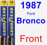 Front Wiper Blade Pack for 1987 Ford Bronco - Premium