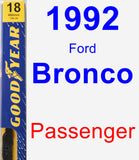 Passenger Wiper Blade for 1992 Ford Bronco - Premium