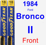 Front Wiper Blade Pack for 1984 Ford Bronco II - Premium