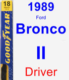 Driver Wiper Blade for 1989 Ford Bronco II - Premium