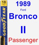Passenger Wiper Blade for 1989 Ford Bronco II - Premium