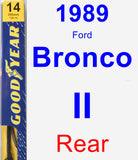 Rear Wiper Blade for 1989 Ford Bronco II - Premium