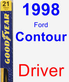 Driver Wiper Blade for 1998 Ford Contour - Premium