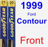 Front Wiper Blade Pack for 1999 Ford Contour - Premium