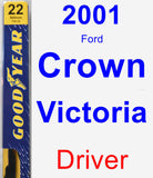 Driver Wiper Blade for 2001 Ford Crown Victoria - Premium