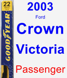 Passenger Wiper Blade for 2003 Ford Crown Victoria - Premium