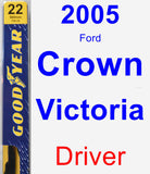 Driver Wiper Blade for 2005 Ford Crown Victoria - Premium