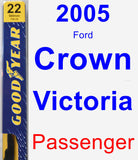 Passenger Wiper Blade for 2005 Ford Crown Victoria - Premium