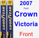 Front Wiper Blade Pack for 2007 Ford Crown Victoria - Premium