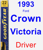Driver Wiper Blade for 1993 Ford Crown Victoria - Premium