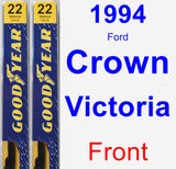Front Wiper Blade Pack for 1994 Ford Crown Victoria - Premium