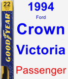 Passenger Wiper Blade for 1994 Ford Crown Victoria - Premium