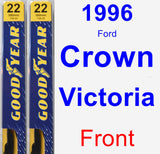 Front Wiper Blade Pack for 1996 Ford Crown Victoria - Premium