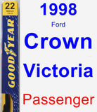 Passenger Wiper Blade for 1998 Ford Crown Victoria - Premium