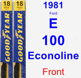 Front Wiper Blade Pack for 1981 Ford E-100 Econoline - Premium
