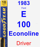 Driver Wiper Blade for 1983 Ford E-100 Econoline - Premium