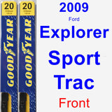 Front Wiper Blade Pack for 2009 Ford Explorer Sport Trac - Premium