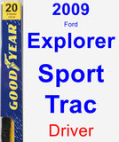 Driver Wiper Blade for 2009 Ford Explorer Sport Trac - Premium