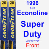 Front Wiper Blade Pack for 1996 Ford Econoline Super Duty - Premium
