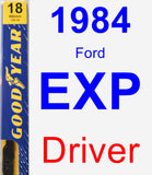 Driver Wiper Blade for 1984 Ford EXP - Premium