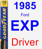 Driver Wiper Blade for 1985 Ford EXP - Premium