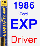 Driver Wiper Blade for 1986 Ford EXP - Premium