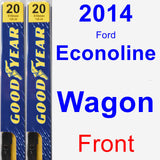 Front Wiper Blade Pack for 2014 Ford Econoline Wagon - Premium