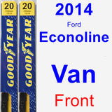 Front Wiper Blade Pack for 2014 Ford Econoline Van - Premium