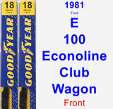 Front Wiper Blade Pack for 1981 Ford E-100 Econoline Club Wagon - Premium