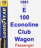 Passenger Wiper Blade for 1981 Ford E-100 Econoline Club Wagon - Premium