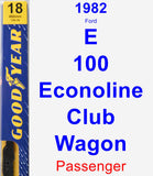 Passenger Wiper Blade for 1982 Ford E-100 Econoline Club Wagon - Premium