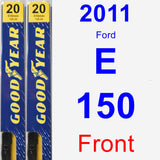 Front Wiper Blade Pack for 2011 Ford E-150 - Premium