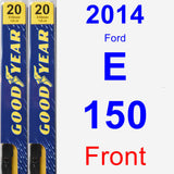 Front Wiper Blade Pack for 2014 Ford E-150 - Premium
