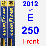 Front Wiper Blade Pack for 2012 Ford E-250 - Premium