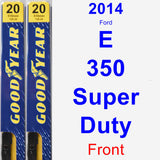 Front Wiper Blade Pack for 2014 Ford E-350 Super Duty - Premium
