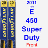 Front Wiper Blade Pack for 2011 Ford E-450 Super Duty - Premium