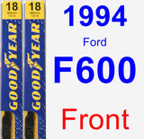 Front Wiper Blade Pack for 1994 Ford F600 - Premium