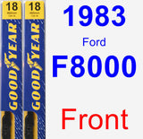 Front Wiper Blade Pack for 1983 Ford F8000 - Premium