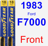 Front Wiper Blade Pack for 1983 Ford F7000 - Premium
