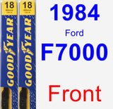Front Wiper Blade Pack for 1984 Ford F7000 - Premium