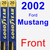 Front Wiper Blade Pack for 2002 Ford Mustang - Premium