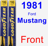 Front Wiper Blade Pack for 1981 Ford Mustang - Premium