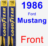 Front Wiper Blade Pack for 1986 Ford Mustang - Premium