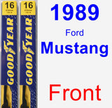 Front Wiper Blade Pack for 1989 Ford Mustang - Premium